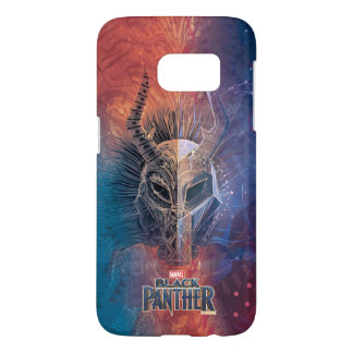 Black Panther   Tribal Mask Overlaid Art Samsung Galaxy S7 Case