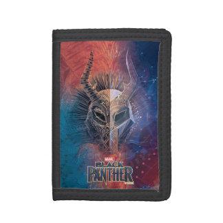 Black Panther   Tribal Mask Overlaid Art Trifold Wallet