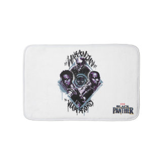 Black Panther | Wakandan Warriors Graffiti Bath Mat