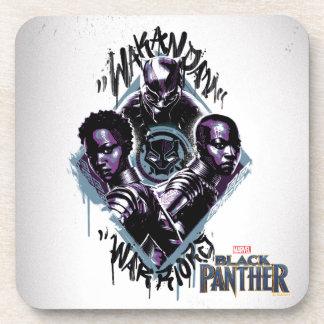 Black Panther | Wakandan Warriors Graffiti Coaster