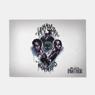 Black Panther | Wakandan Warriors Graffiti Doormat