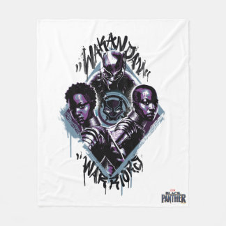 Black Panther | Wakandan Warriors Graffiti Fleece Blanket