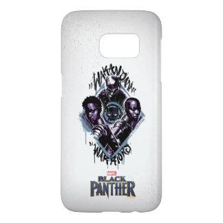 Black Panther   Wakandan Warriors Graffiti Samsung Galaxy S7 Case
