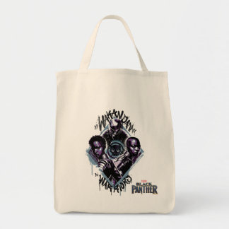 Black Panther | Wakandan Warriors Graffiti Tote Bag