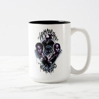 Black Panther | Wakandan Warriors Graffiti Two-Tone Coffee Mug