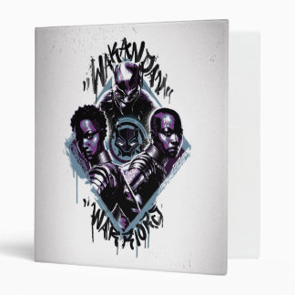Black Panther   Wakandan Warriors Graffiti Vinyl Binder