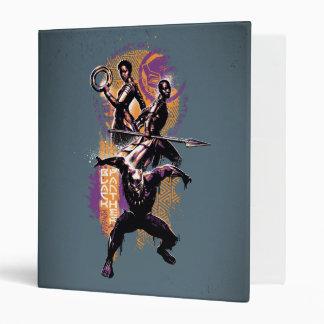 Black Panther   Wakandan Warriors Painted Graphic 3 Ring Binder