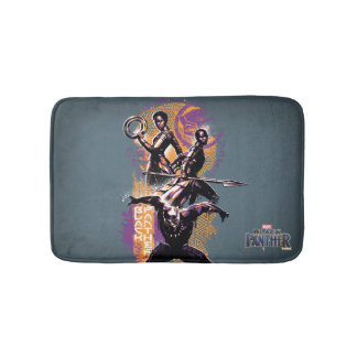 Black Panther | Wakandan Warriors Painted Graphic Bath Mat