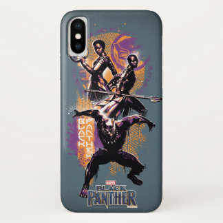 Black Panther | Wakandan Warriors Painted Graphic Case-Mate iPhone Case