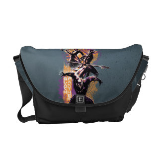 Black Panther   Wakandan Warriors Painted Graphic Courier Bag