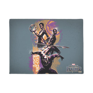 Black Panther | Wakandan Warriors Painted Graphic Doormat