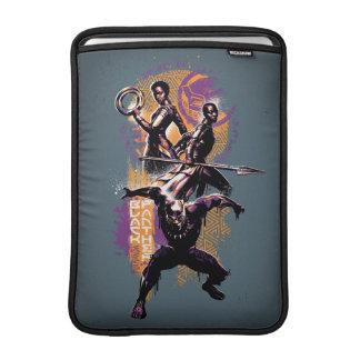 Black Panther | Wakandan Warriors Painted Graphic MacBook Sleeve