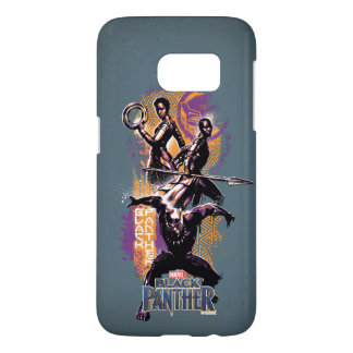 Black Panther   Wakandan Warriors Painted Graphic Samsung Galaxy S7 Case