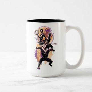 Black Panther | Wakandan Warriors Painted Graphic Two-Tone Coffee Mug