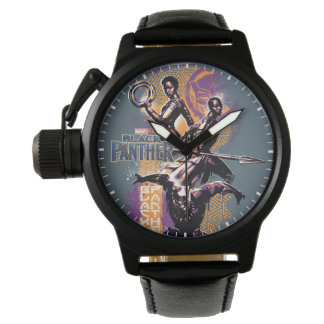 Black Panther | Wakandan Warriors Painted Graphic Watch
