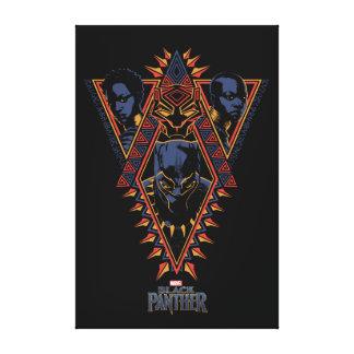 Black Panther | Wakandan Warriors Tribal Panel Canvas Print