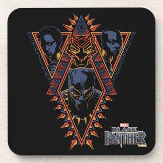 Black Panther | Wakandan Warriors Tribal Panel Coaster