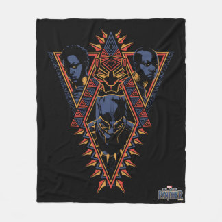 Black Panther | Wakandan Warriors Tribal Panel Fleece Blanket
