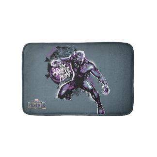 Black Panther | Warrior King Painted Graphic Bath Mat