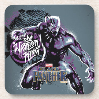 Black Panther | Warrior King Painted Graphic Coaster