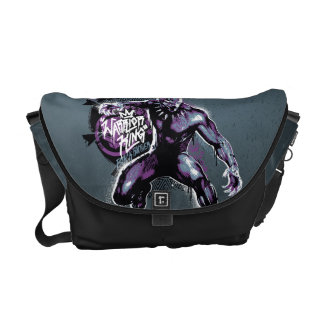 Black Panther | Warrior King Painted Graphic Courier Bag