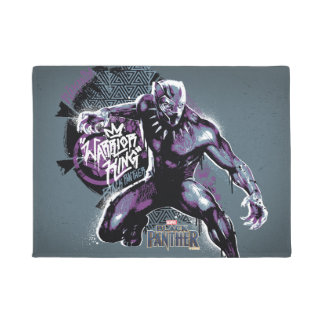 Black Panther | Warrior King Painted Graphic Doormat