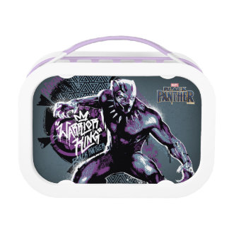 Black Panther   Warrior King Painted Graphic Lunch Box