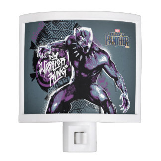 Black Panther | Warrior King Painted Graphic Nite Lite