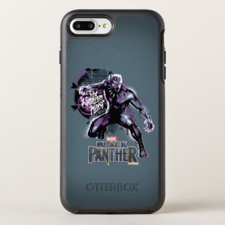 Black Panther | Warrior King Painted Graphic OtterBox Symmetry iPhone 8 Plus/7 Plus Case