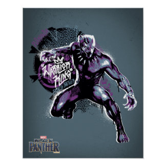 Black Panther | Warrior King Painted Graphic Poster