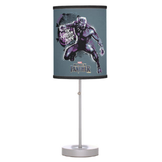 Black Panther | Warrior King Painted Graphic Table Lamp