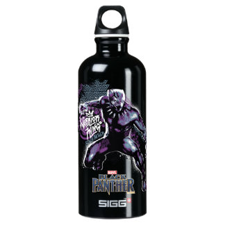 Black Panther | Warrior King Painted Graphic Water Bottle