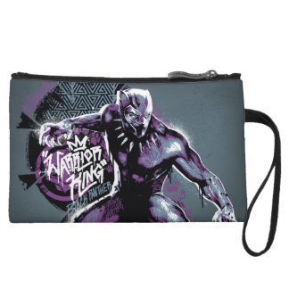 Black Panther | Warrior King Painted Graphic Wristlet