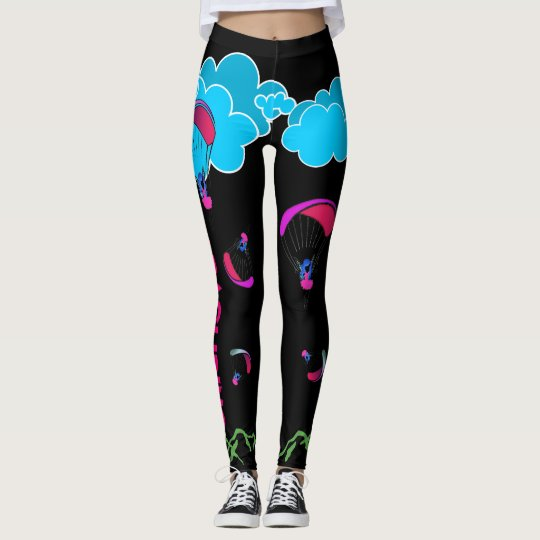 Black Paragliding Pixie leggings