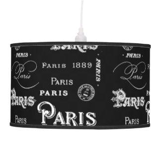 Black Paris Letter Pendant Lamp