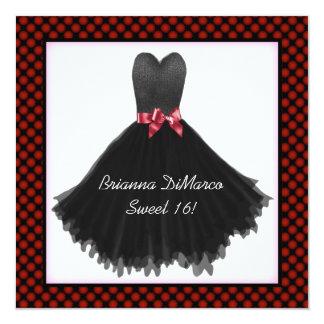 Black Party Dress Invitation