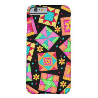 Black Patchwork Quilt Art iPhone 6 case Barely There iPhone 6 Case