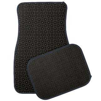 Black pattern car mat