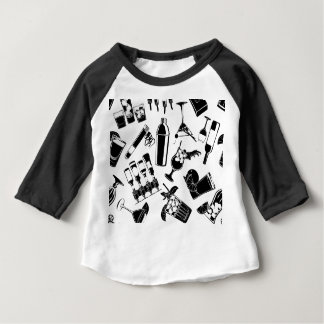 Black Pattern Cocktail Bar Baby T-Shirt