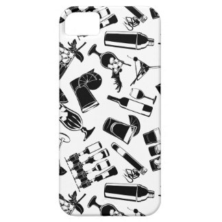 Black Pattern Cocktail Bar Case For The iPhone 5