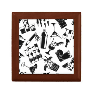 Black Pattern Cocktail Bar Gift Box