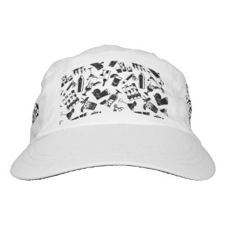 Black Pattern Cocktail Bar Hat