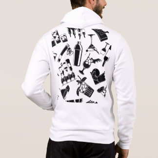 Black Pattern Cocktail Bar Hoodie
