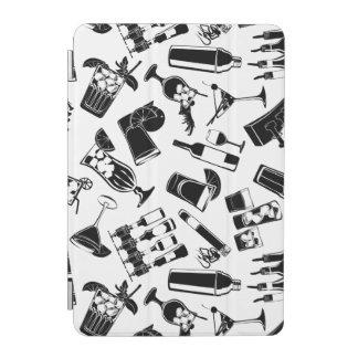 Black Pattern Cocktail Bar iPad Mini Cover