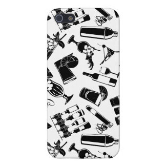 Black Pattern Cocktail Bar iPhone 5/5S Case