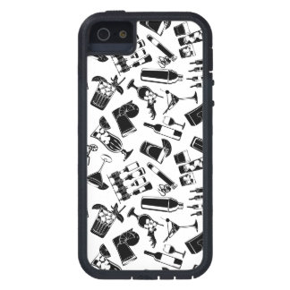 Black Pattern Cocktail Bar iPhone 5 Case