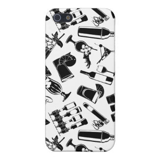 Black Pattern Cocktail Bar iPhone 5 Cases