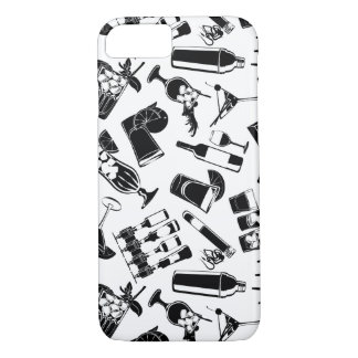 Black Pattern Cocktail Bar iPhone 8/7 Case