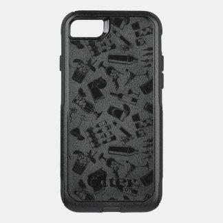 Black Pattern Cocktail Bar OtterBox Commuter iPhone 7 Case