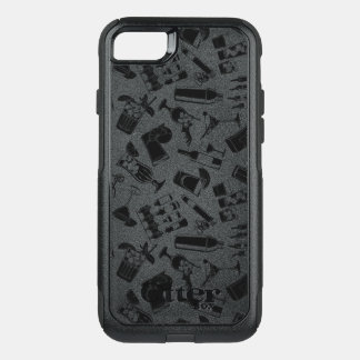 Black Pattern Cocktail Bar OtterBox Commuter iPhone 8/7 Case